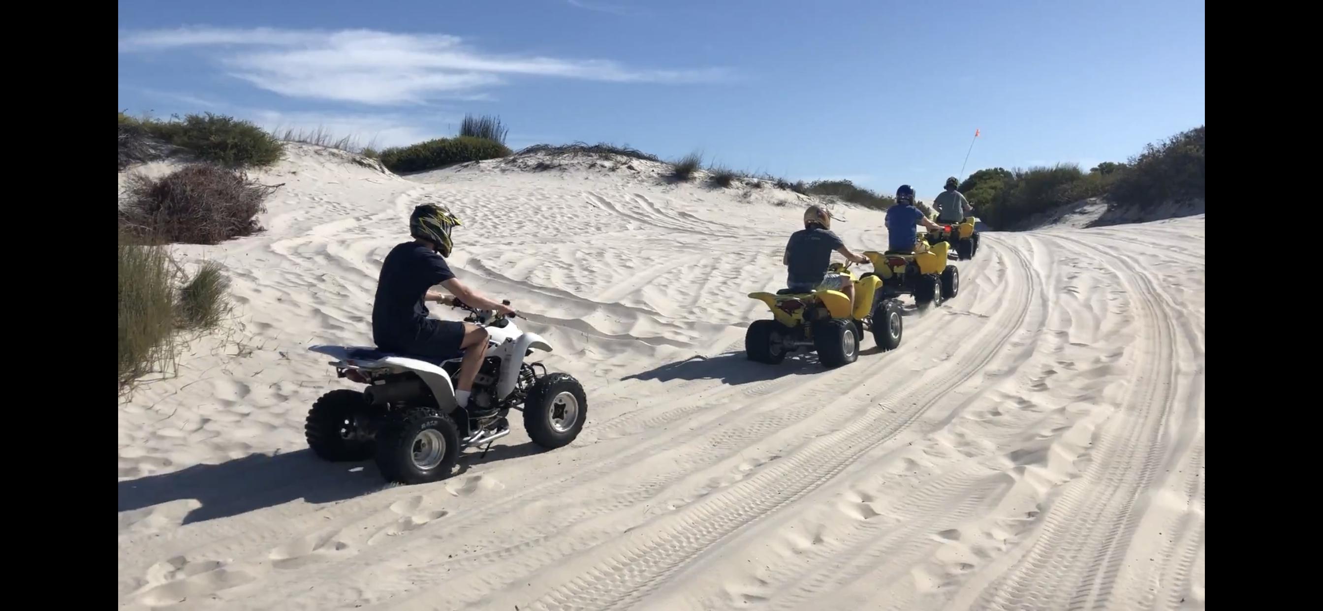 Quad Biking in the dunes
